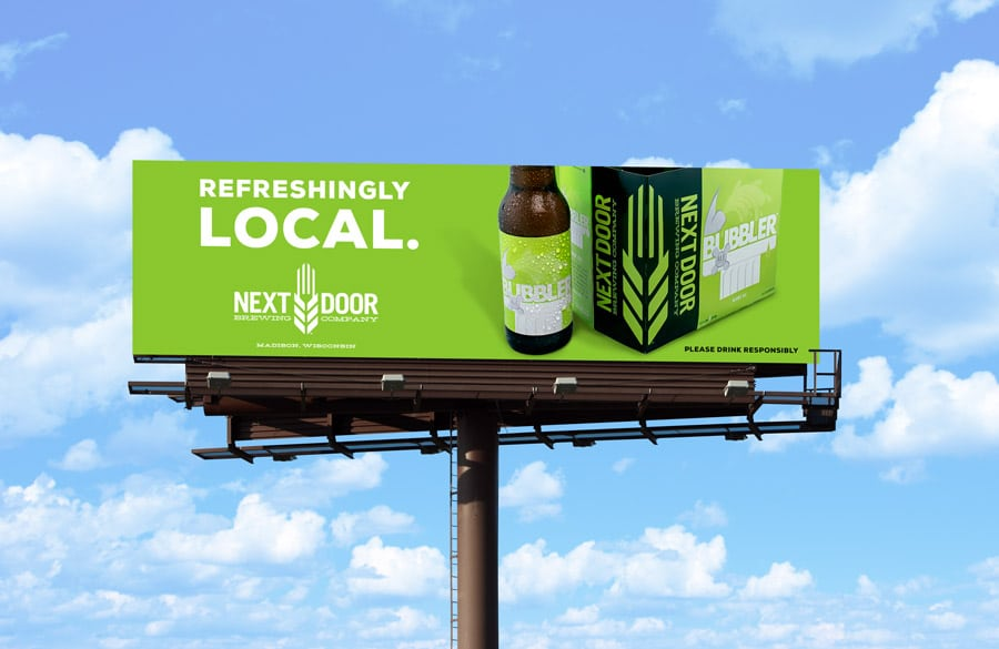 Billboard for Bubbler Blonde Ale