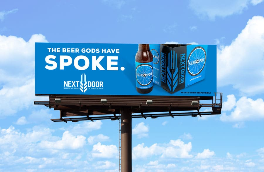 Billboard for Kaleidospoke American Pale Ale