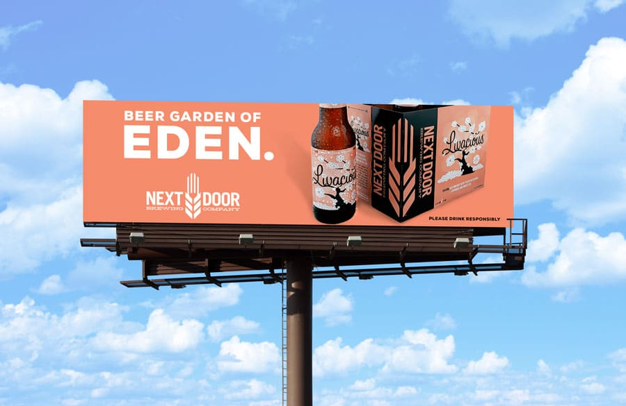 Billboard for Livacious Saison Ale