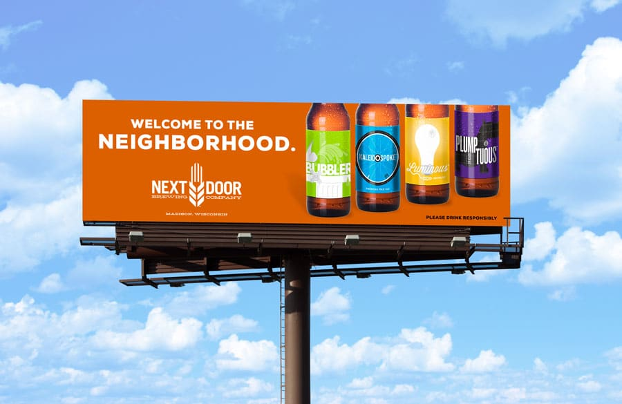 Billboard for Next Door Brewing Company