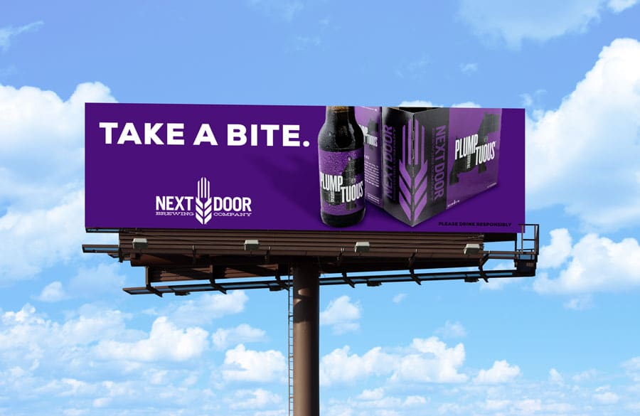 Billboard for Plumptuous Scottish Ale