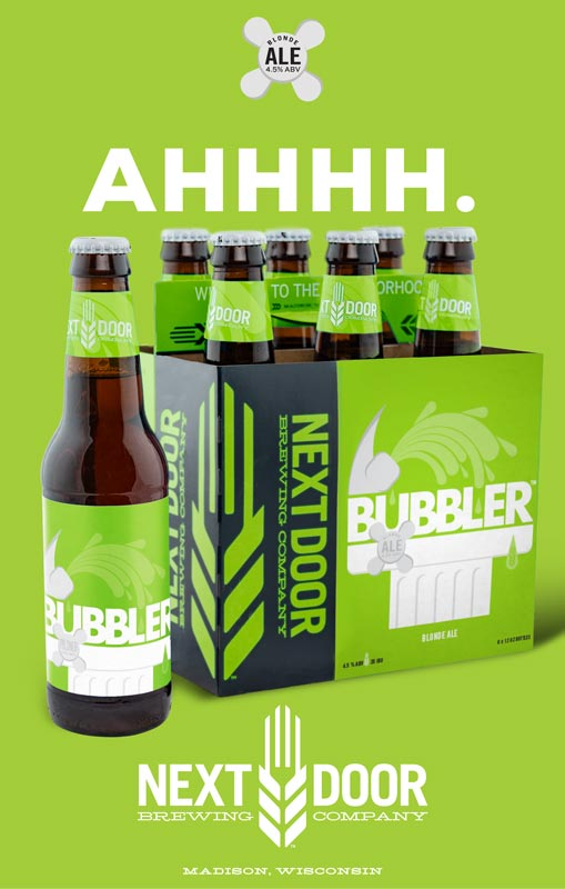 Next Door Brewing Company Bubbler poster