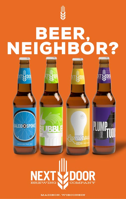 Next Door Brewing Company Beer Neighbor poster