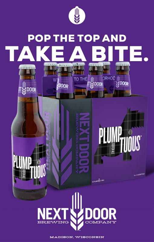 Next Door Brewing Company Plumptuous poster