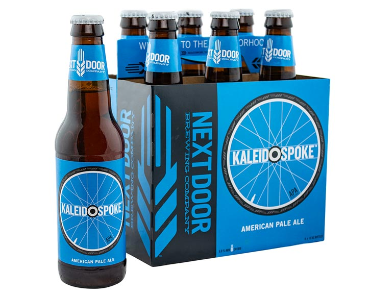 Packaging design for Next Door Brewing's American Pale Ale, Kaleidospoke