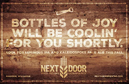 Next Door Brewing Company teaser poster
