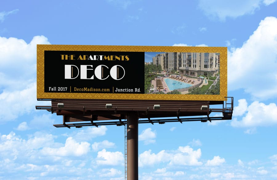Deco Apartments now open billboard