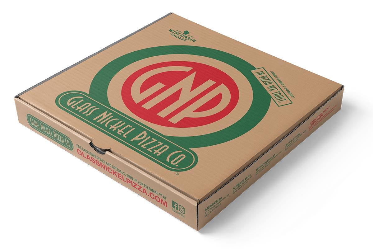 Pizza box design for Glass Nickel Pizza