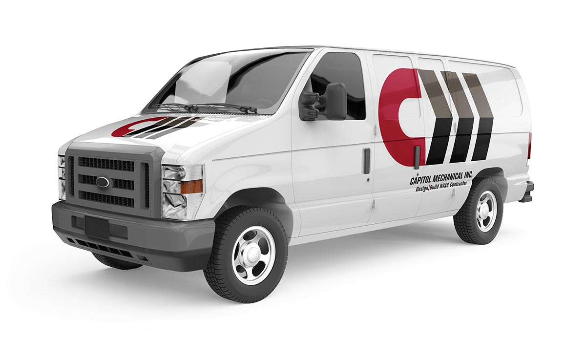 Capitol Mechanical van wrap design