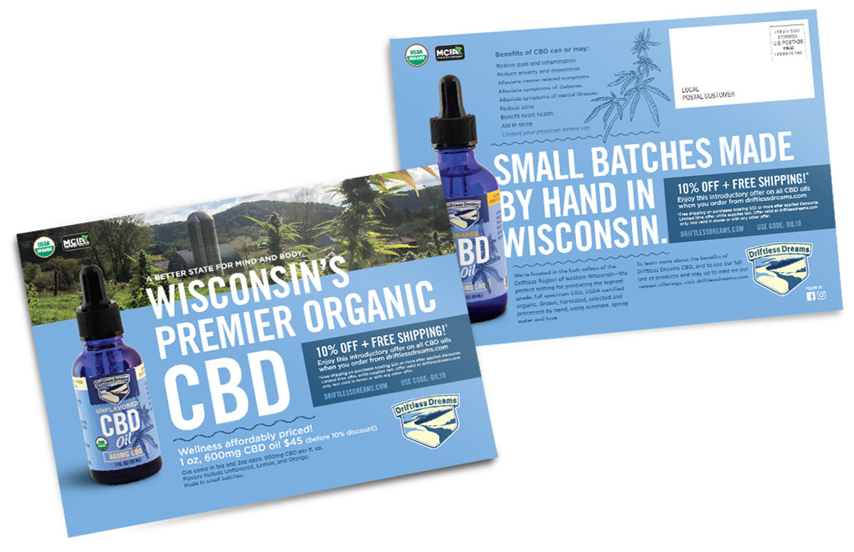 Direct Mail for Driftless Dreams CBD oil