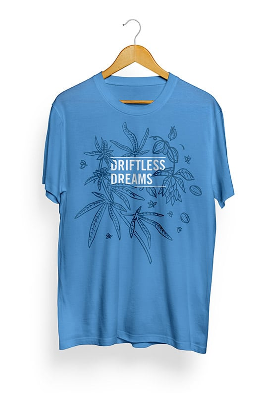 promotional t-shirt design for Driftless Dreams