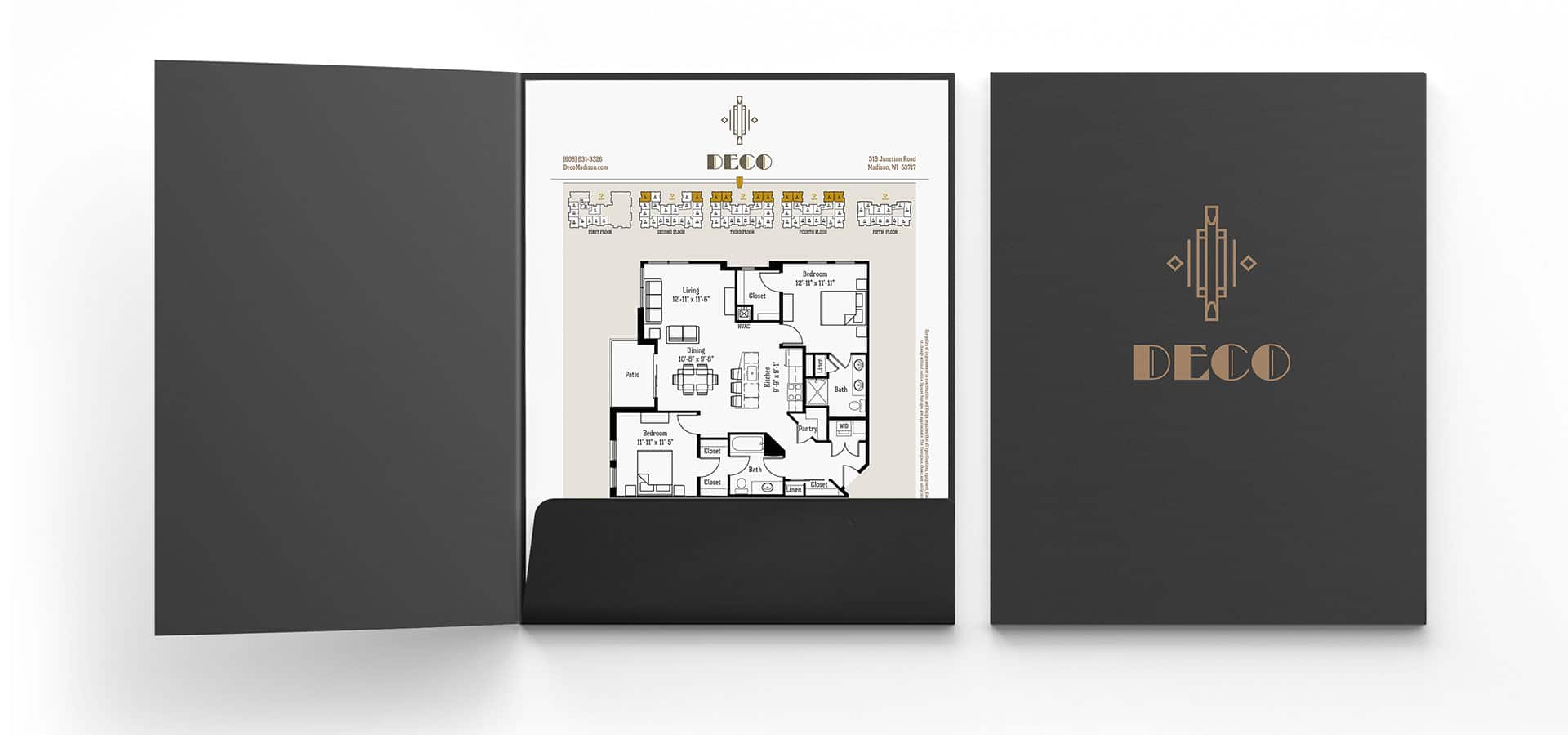 Folder design for Deco apartments