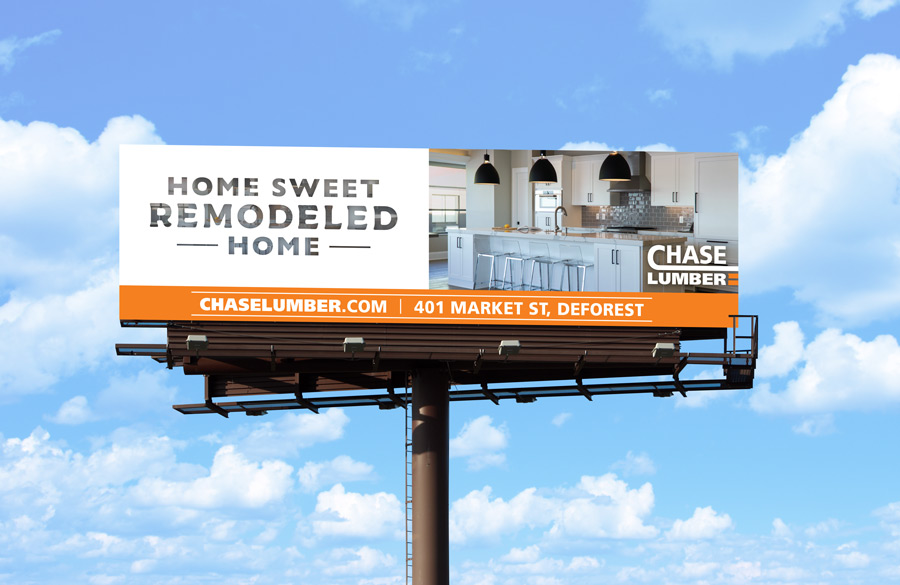 Chase Lumber billboard