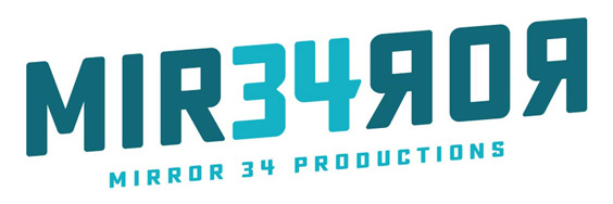 Mirror 34 Productions logo design