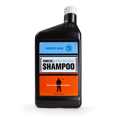 Packaging for Hound's Head Shampoo